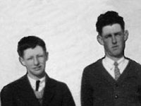 As young men in Musquodoboit, NS, brothers John Burton Cook (1920-2006) and Ivan Merson Cook (1913-1988) <i>Claire Cook Castle Collection</i>