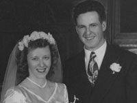 Betty June Tuthill and Jim (James Robert) Cook marry in Oregon in 1949. <i>Betty Cook Collection</i>