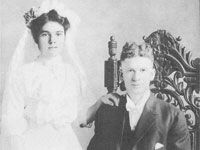 James Lester Cook (1890-1970) and Ethel E. E. Smith (1895-1979) married December 20th 1911 in Multnomah County, Oregon Karen Cook Hubbard Collection</i>
