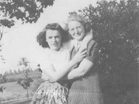 Mary Ellen Lawson Cook (1895-1966) and daughter Phyllis Verna Cook Schmeisser, Cooks Brook, NS. Phyllis Cook Schmeisser